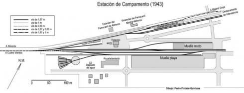 estacion militar campamento en 1943