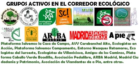 GRUPOS ACTIVOS DEL CORREDOR ECOLÓGICO